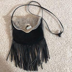 Gorgeous Handmade Medicine Bag Fur Leather